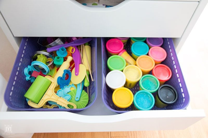 how to organize kids art supplies and craft supplies--kids art storage hacks by DIY Decor Mom