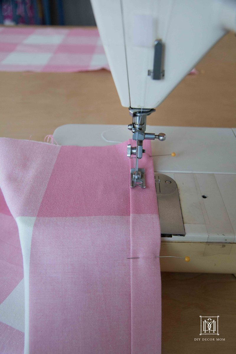 sewing baby dust ruffle