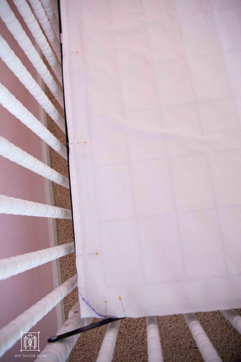 sewing-diy-crib-skirt-pattern by popular home decor blogger DIY Decor Mom