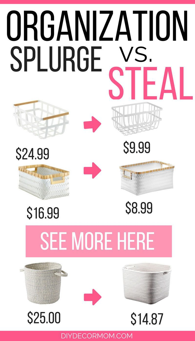 OMG! love this organization storage baskets look for less! Such a great round up of the best storage baskets for organizing your home! by DIY DECOR MOM - Stylish and Functional Storage Baskets to Help You Organize by popular home decor blogger DIY Decor Mom