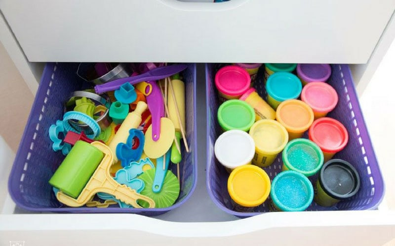 how to store kids art supplies-- kids art supply storage for real homes