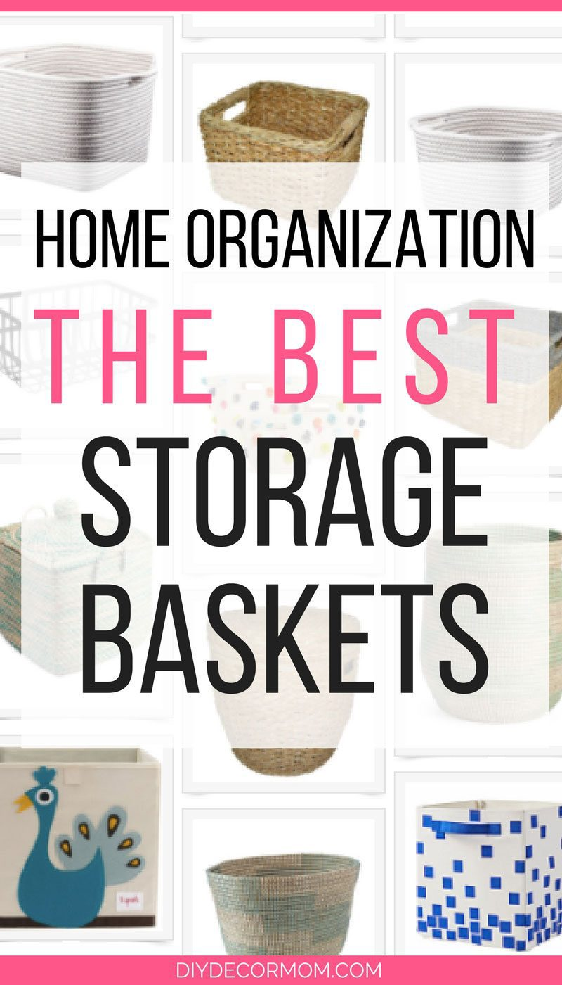 LOVE IT! these are the absolute best storage baskets for home organization by popular design blogger DIY DECOR MOM - Stylish and Functional Storage Baskets to Help You Organize by popular home decor blogger DIY Decor Mom