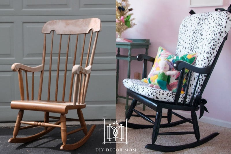 DIY Upholstered Rocking Chair: See how easy it is to make your own rocking chair cushion