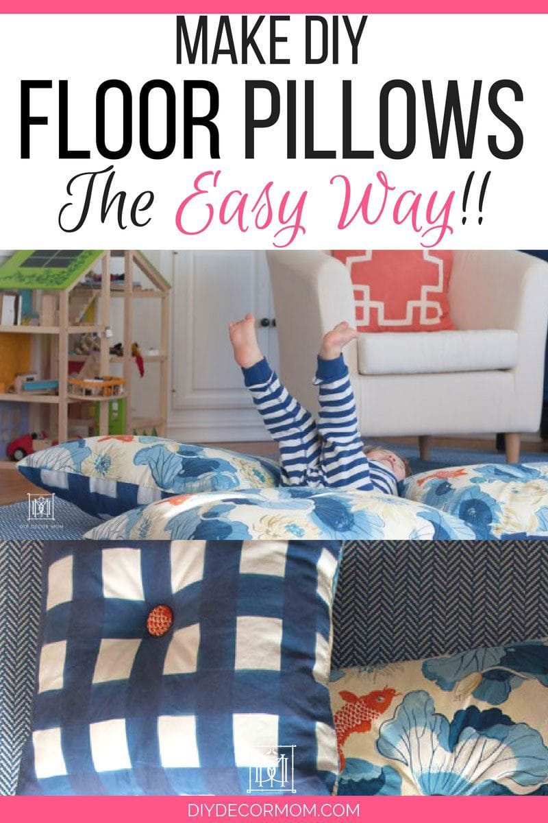 DIY Floor Pillow Instructions | Giant Floor Pillows with kids by DIY Decor Mom