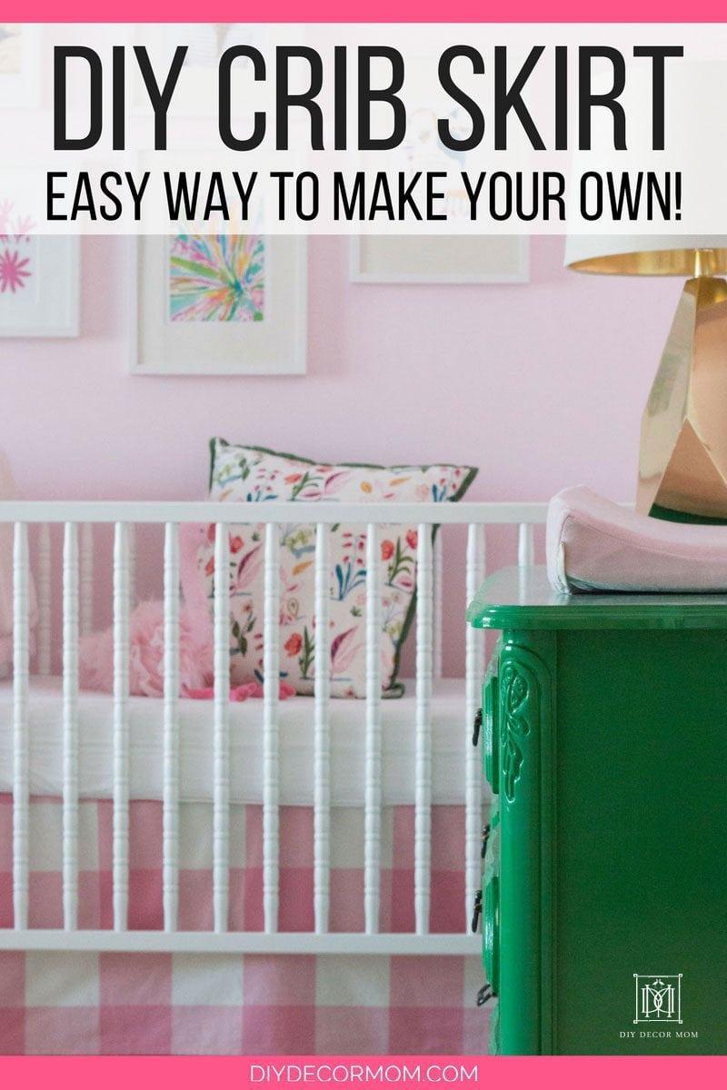DIY Crib Skirt Jenny Lind Crib | make your own crib skirt tutorial by popular home blogger DIY Decor Mom