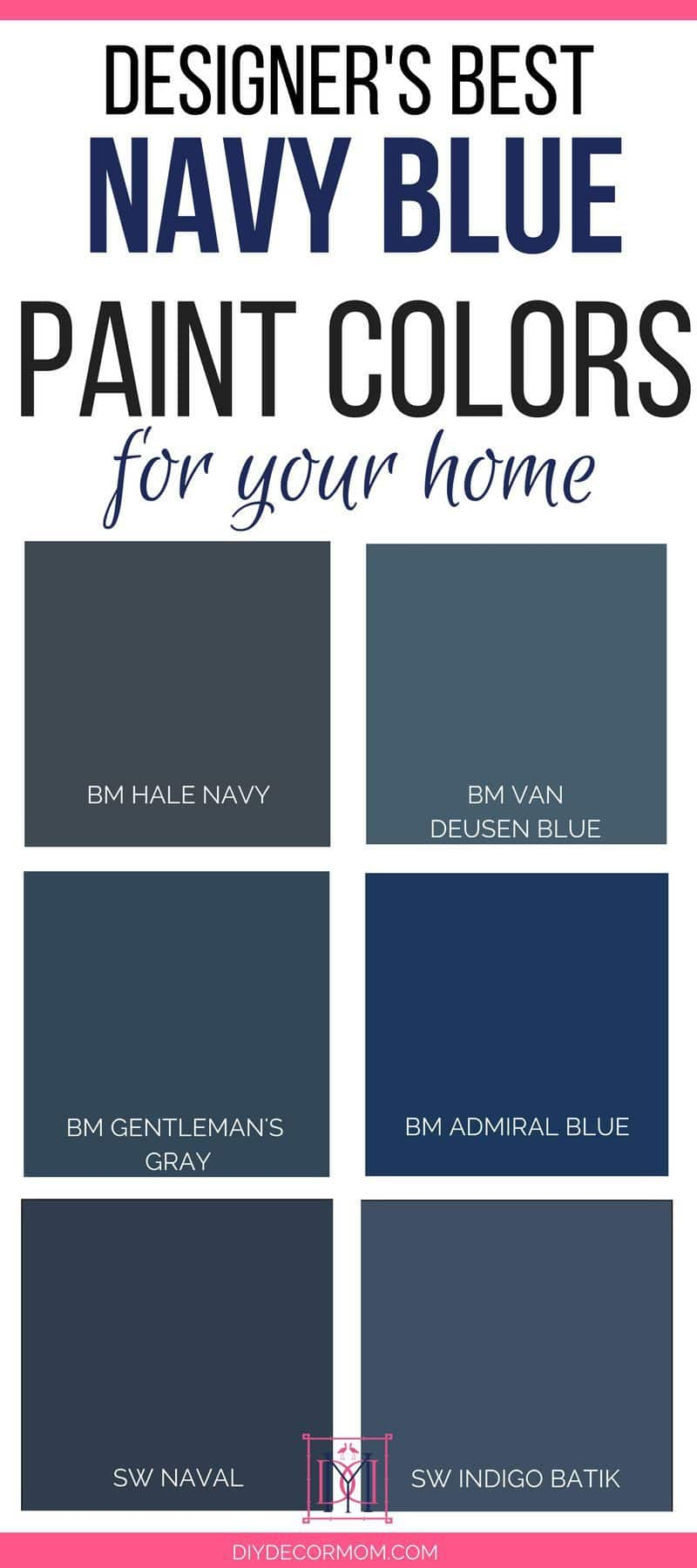 best navy paint colors | sherwin williams navy paint color and benjamin moore navy paint colors