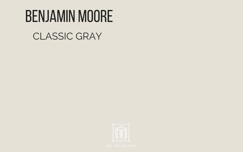 benjamin moore classic gray paint swatch
