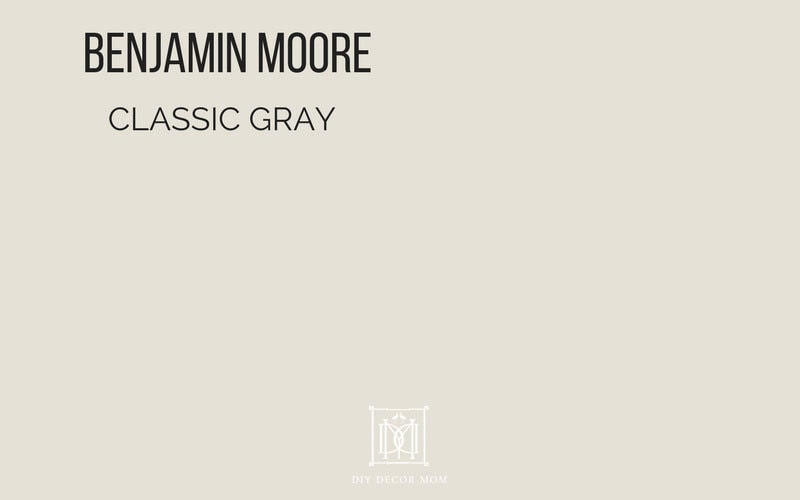 benjamin moore classic gray- best light gray paint
