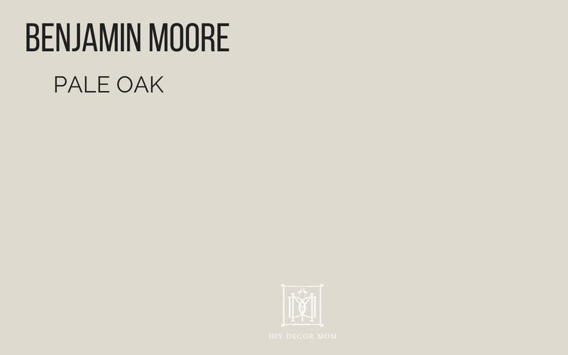 benjamin moore pale oak- best greige paint colors for your home