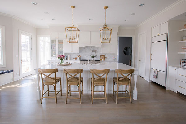 Benjamin Moore Classic Gray kitchen- Life on Cedar Lane