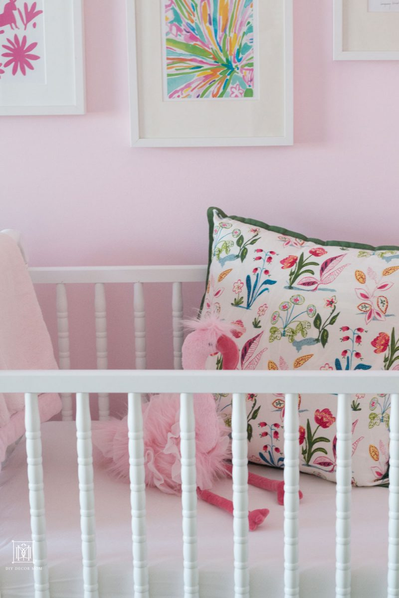 jenny lind crib benjamin moore romantic pink wall color in shared girls bedroom