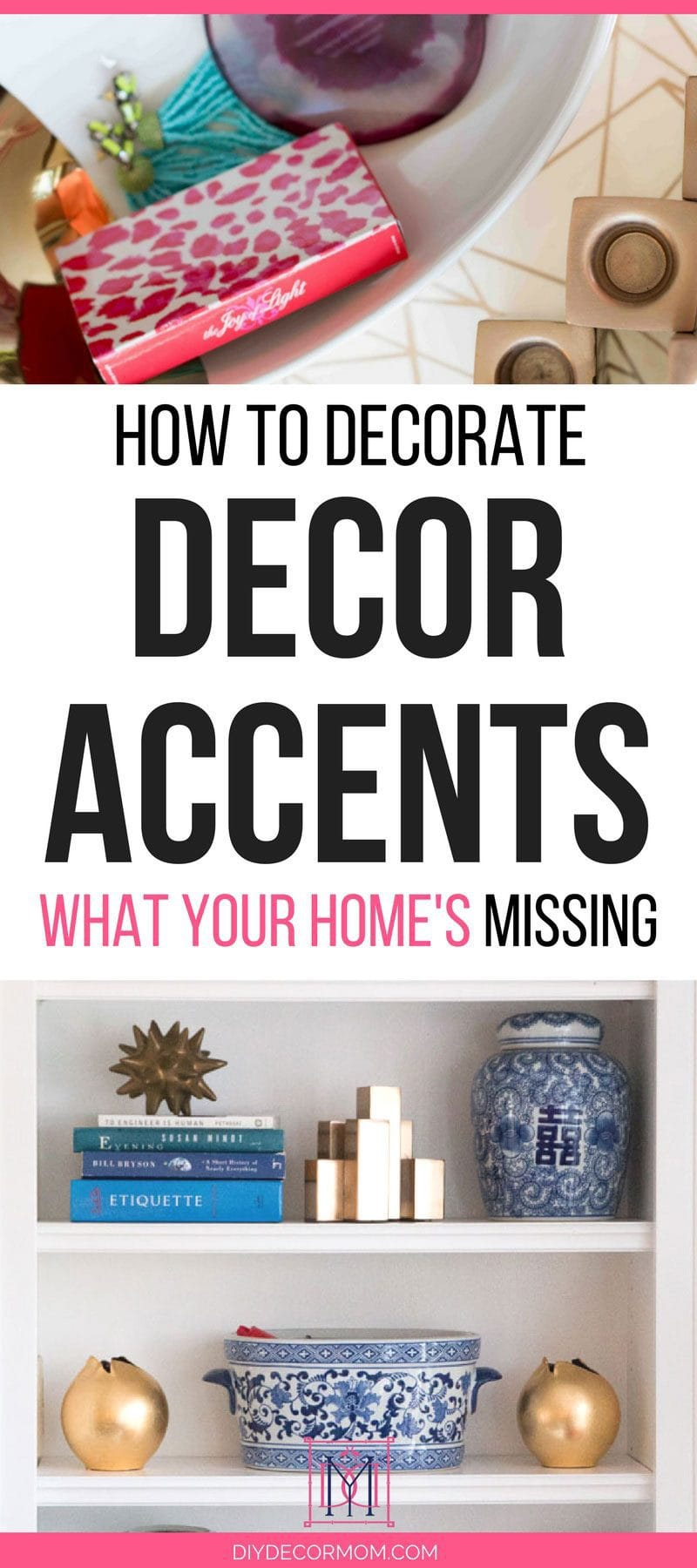 decor accents and decorative objects for styling home