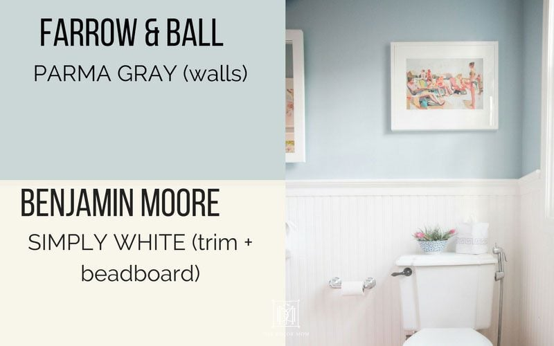 Farrow Ball Parma Gray Walls And Benjamin Moore Simply White Beadboard Trim See This Post On Diy To Make Your Own