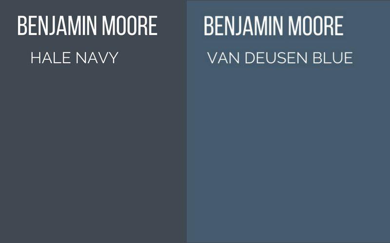 hale navy vs van deusen blue benjamin moore paint colors