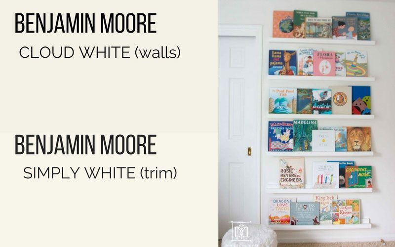 benjamin moore cloud white walls and bm simply white trim and doors