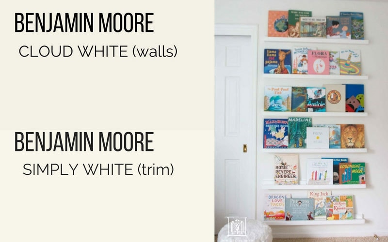 benjamin moore cloud white walls