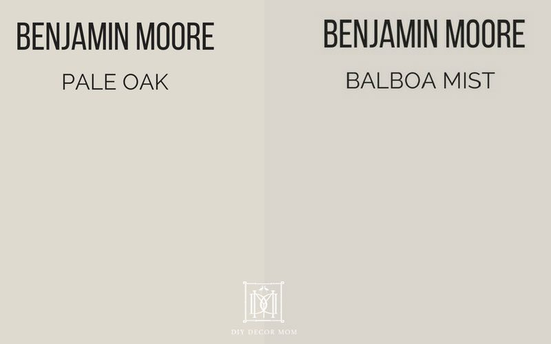 Pale Oak vs Balboa Mist see Benjamin Moore Pale Oak and Balboa Mist reviews here