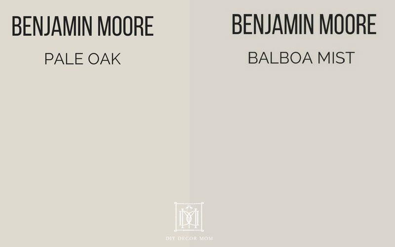 Pale Oak vs Balboa Mist see Benjamin Moore Pale Oak and Balboa Mist reviews here