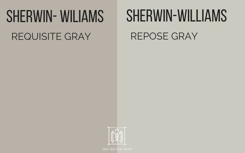 gray paint colors requisite gray vs. repose gray