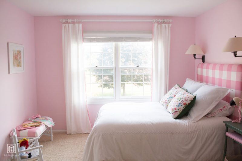 The Cutest Shared Girls Room: Pink Little Girls Bedroom for Sisters
