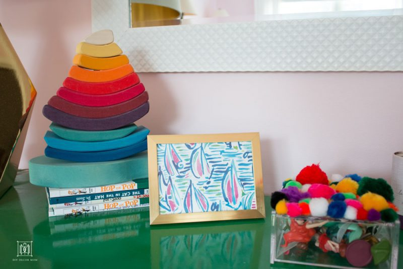 shared girls decor diy lilly pulitzer art in light pink wall color room