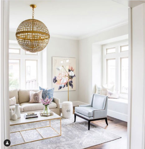 classic gray living room by studio mcgee