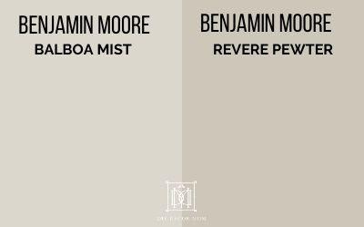 balboa mist vs. revere pewter