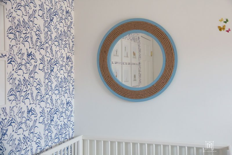 Baby Boy Nursery Decor Blue And White Accent Wall