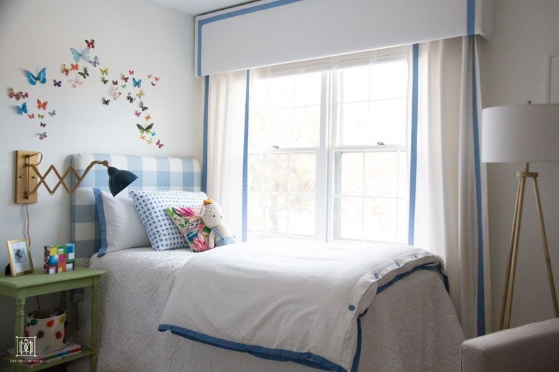 big boy bed with pelmet box curtains boy nursery decor ideas