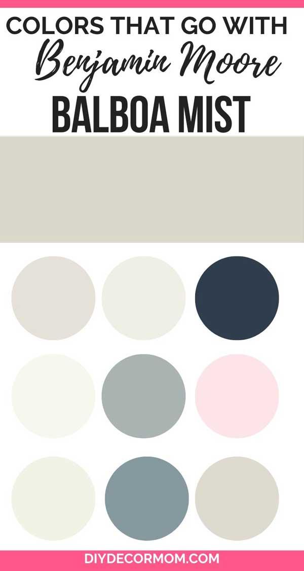 colors that go with Benjamin Moore Balboa Mist