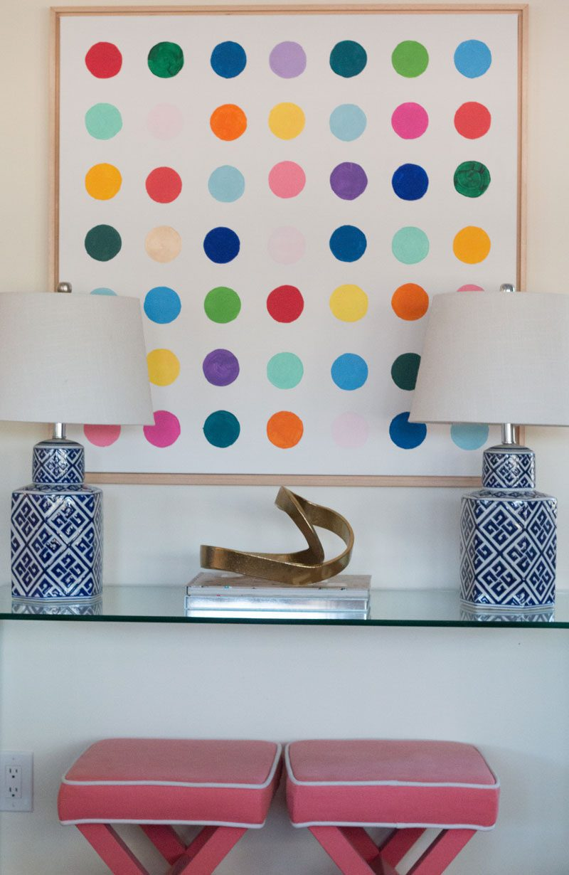 diy wall art modern large canvas with glass console table