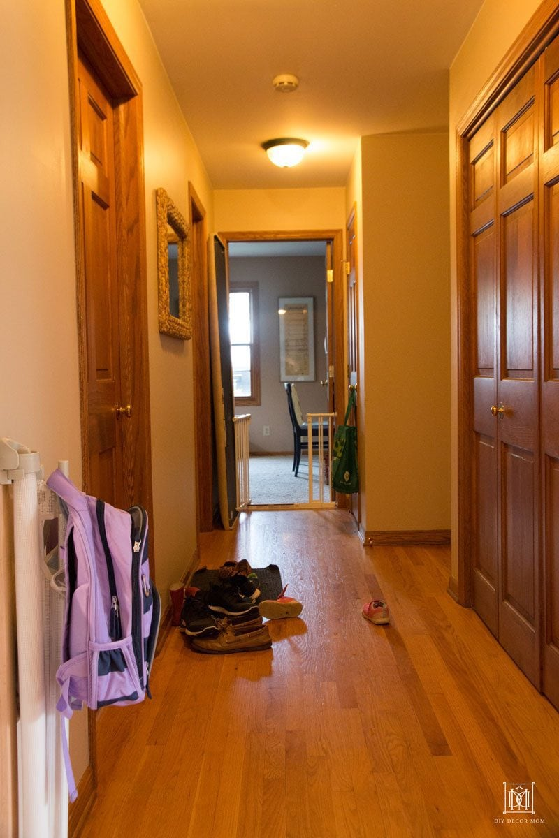 how to makeover a small entryway- before and after