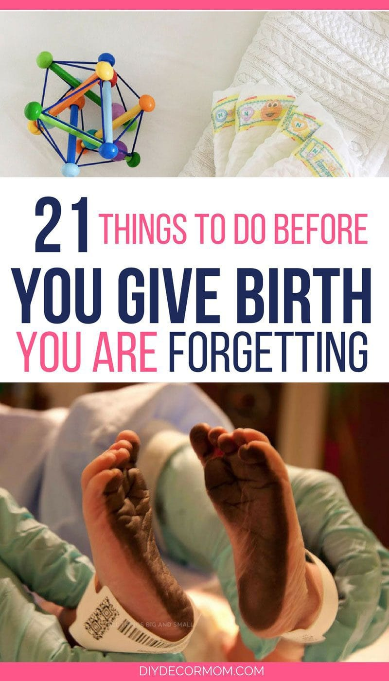 what to do before you give birth- newborn baby toys newborn diapers and newborn feet in hospital