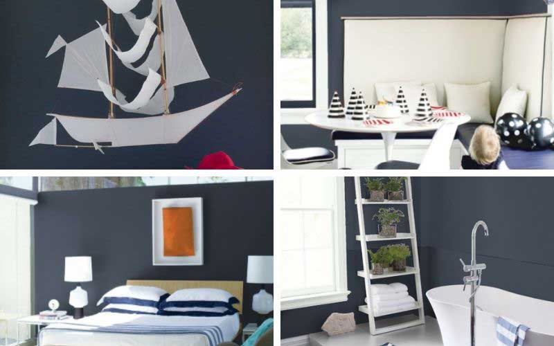 hale navy painted bedrooms, bathrooms, offices, and walls