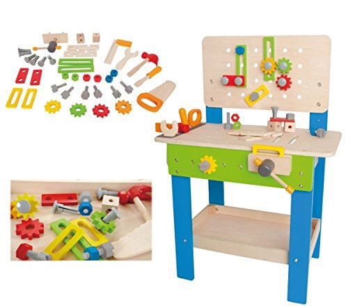 Wooden Toy Bench Great Present For 3 Year Old Birthday Or Christmas