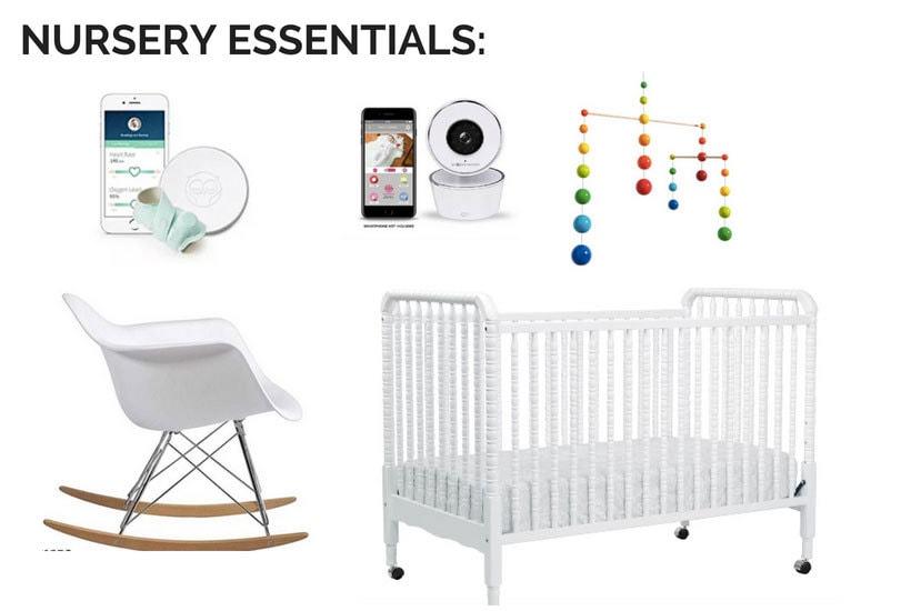 baby registry must have checklist- nursery essentials of must have baby registry items
