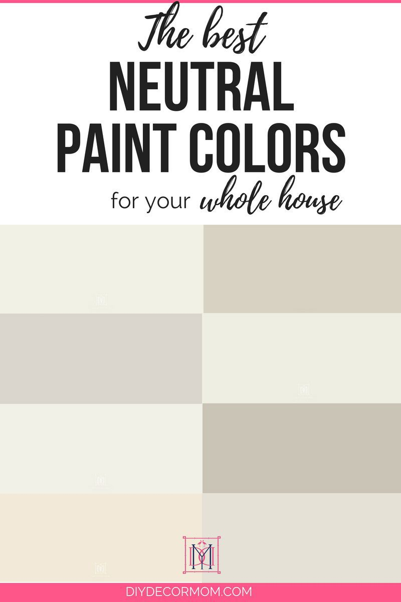 Best Neutral Paint Colors For Your Home Including Light Grays And White From Benjamin