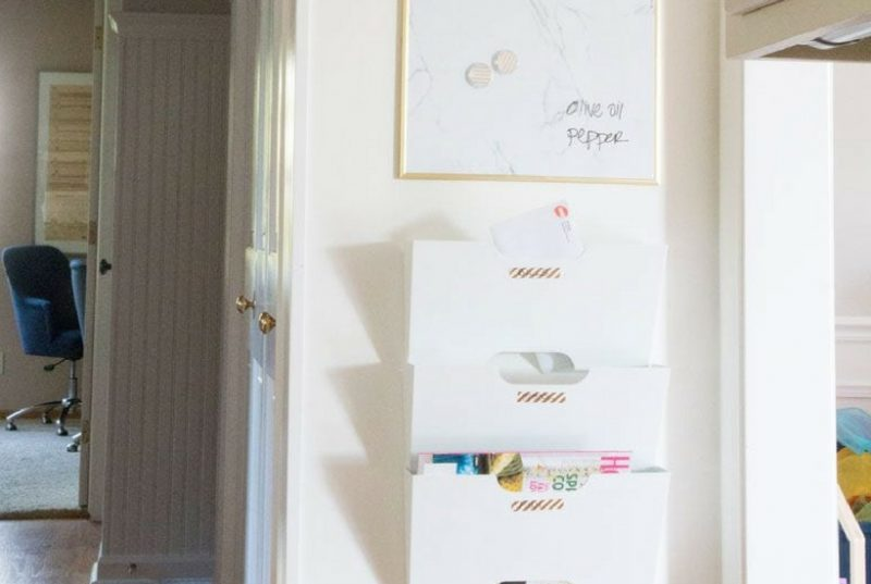 diy family command center- perfect for daily cleaning chores