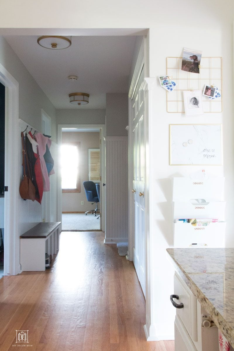 how to make a wall mounted command center for entryway on small wall