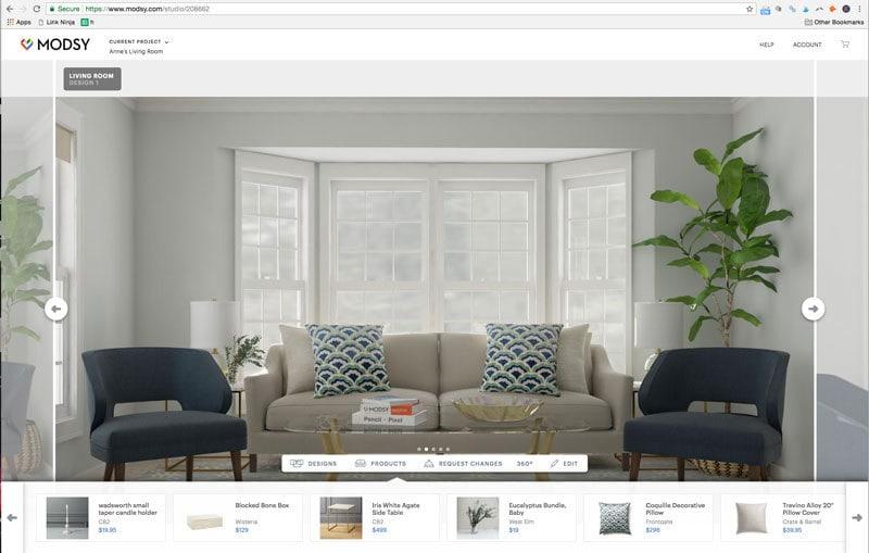 small living room arrangement