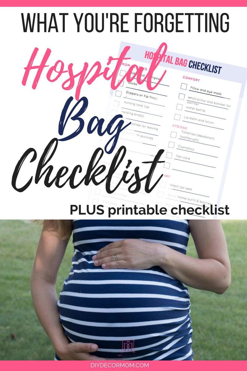 hospital bag checklist for baby with pregnant woman