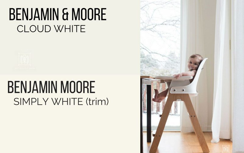 benjamin moore cloud white kitchen and simply white trim