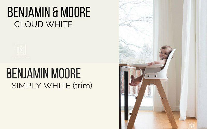 benjamin moore cloud white kitchen