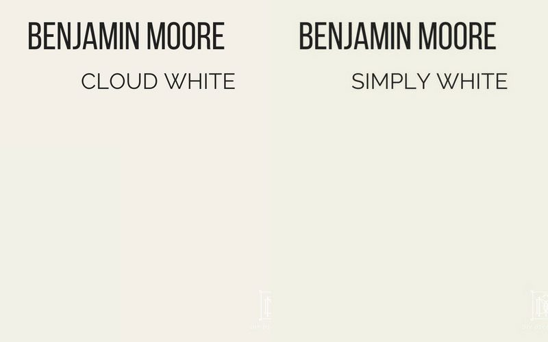 benjamin moore cloud white vs benjamin moore simply white