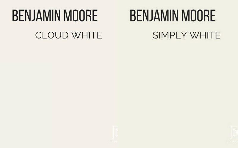 benjamin moore cloud white vs benjamin moore simply white
