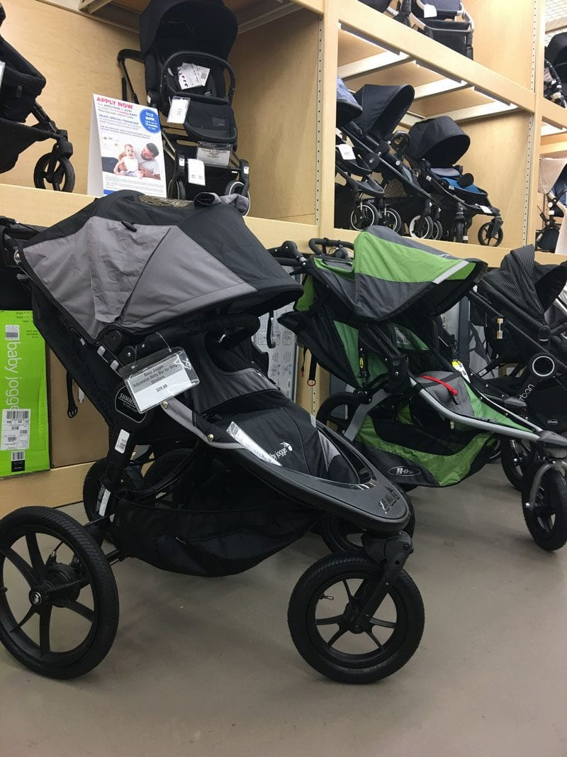side by side comparison of running strollers