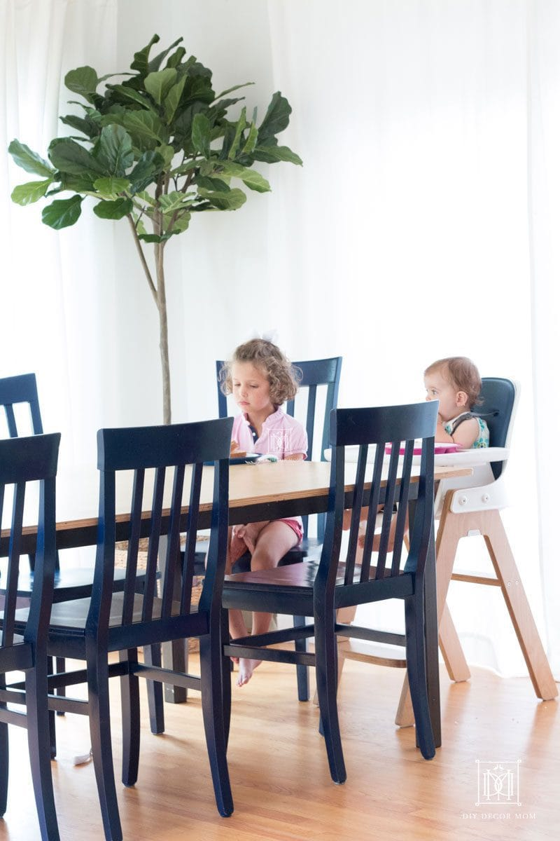 two sisters sitting down at kitchen table eating indoor air quality concerns