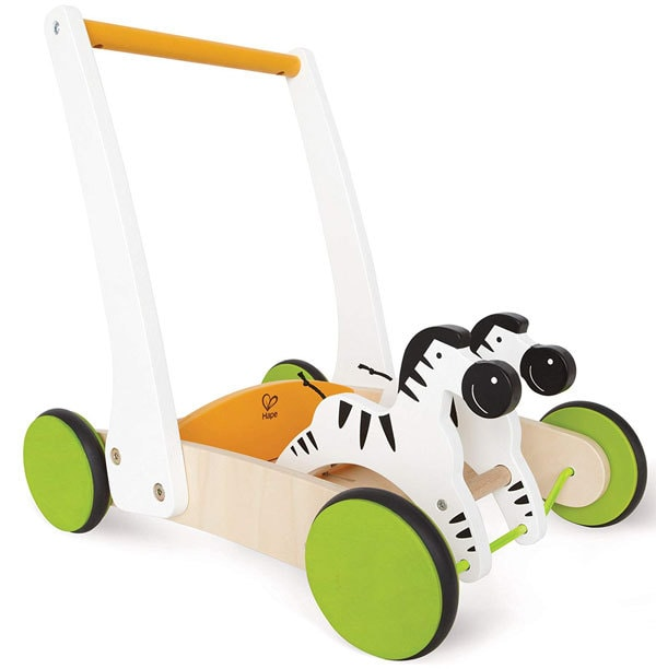 one year old toy zebra push cart a