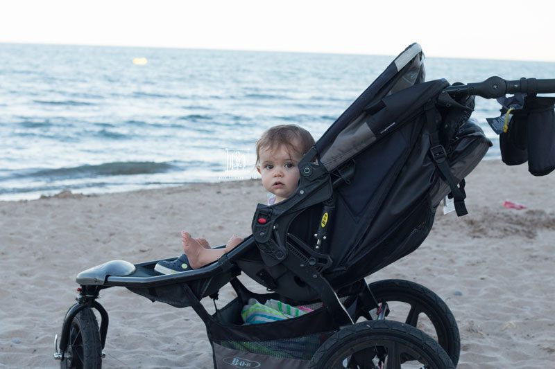 baby in bob jogging stroller on the beach reviews of double jogging strollers