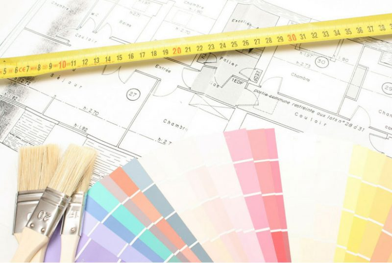 interior paint colors and blueprint of floor plans for house